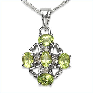 Design 16859: green peridot pendants