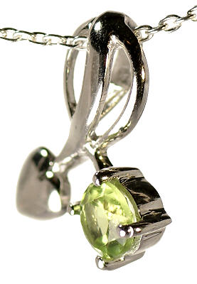 Design 16860: green peridot pendants