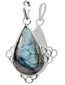 Design 1689: green,gray labradorite drop pendants