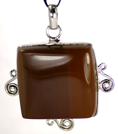 Design 16965: brown agate pendants