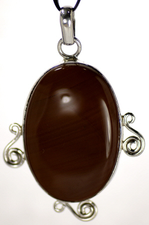 Design 16966: brown agate pendants