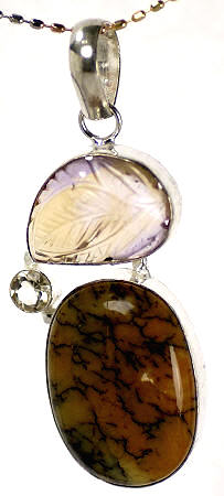 Design 17019: multi-color multi-stone pendants