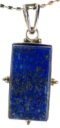 Design 17071: blue lapis lazuli pendants