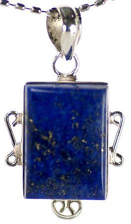 Design 17076: blue lapis lazuli pendants