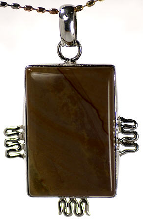 Design 17098: brown multi pendants