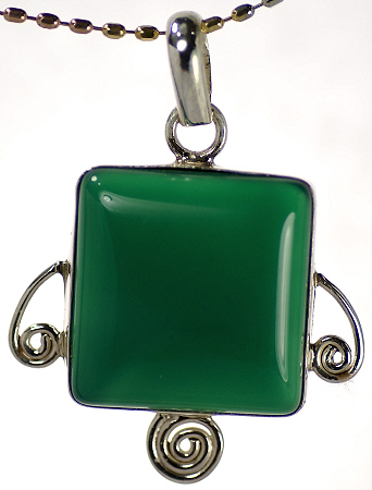 Design 17101: green onyx pendants