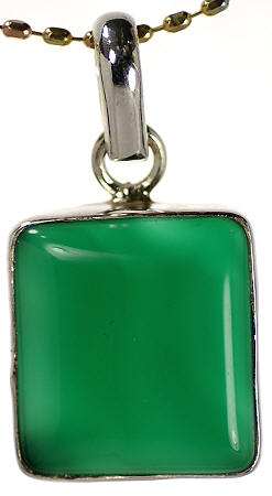 Design 17106: green onyx pendants