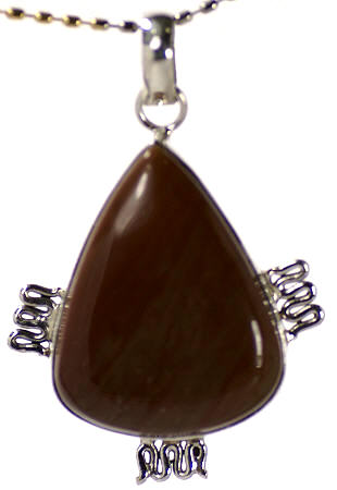 Design 17109: brown jasper pendants