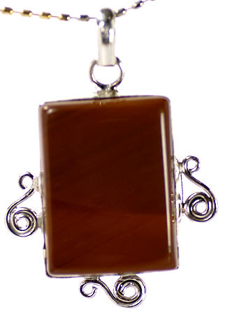 Design 17115: brown jasper pendants
