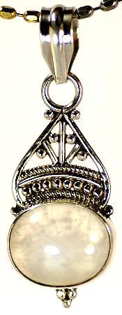 Design 17132: white moonstone pendants