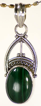 Design 17137: green malachite pendants