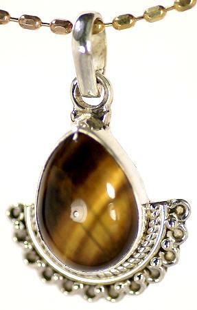 Design 17145: brown tiger eye pendants