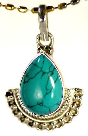Design 17150: blue turquoise pendants