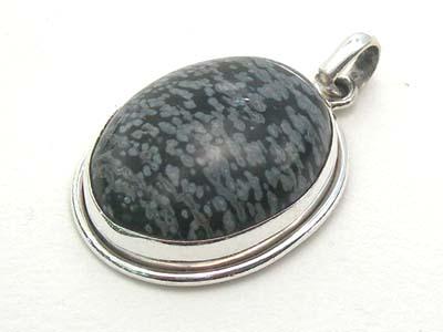 Design 1726: black obsidian pendants