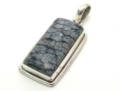 Design 1728: black obsidian pendants