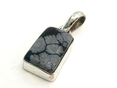 Design 1730: black obsidian pendants