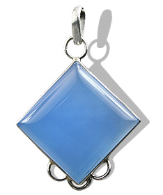 Design 1762: blue chalcedony pendants