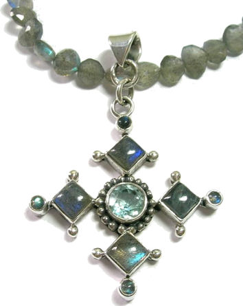 Design 1786: blue labradorite christian, cross, religious pendants