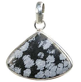 Design 1798: black,gray obsidian pendants