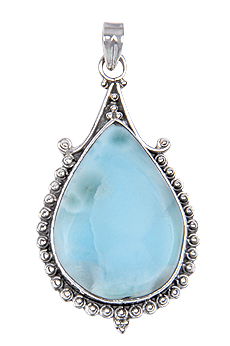Design 17994: green larimar pendants