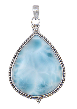 Design 17997: green larimar pendants