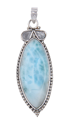 Design 17998: green larimar pendants