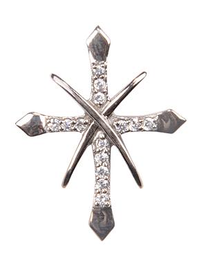 Design 18075: clear cubic zirconia pendants