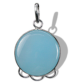 Design 1818: blue chalcedony pendants