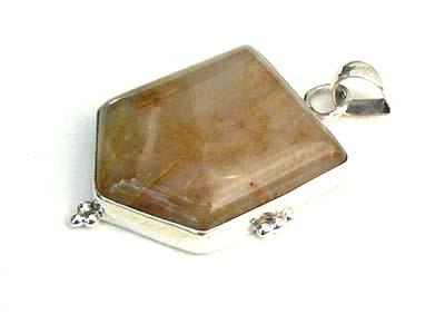 Design 1820: brown rutilated quartz pendants