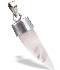 Design 18213: pink rose quartz pendants