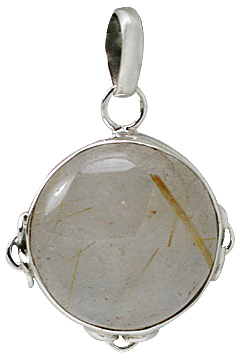 Design 1822: brown rutilated quartz pendants