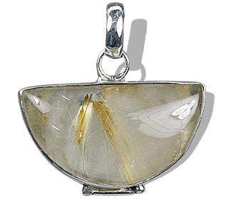 Design 1827: brown,yellow rutilated quartz pendants