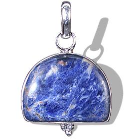 Design 1831: blue,white sodalite pendants