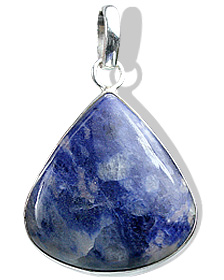 Design 1833: blue,white sodalite drop pendants