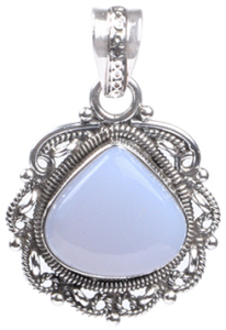 Design 18356: blue chalcedony pendants