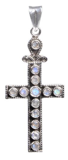 Design 18366: white moonstone pendants