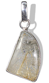 Design 1847: brown,gray rutilated quartz pendants