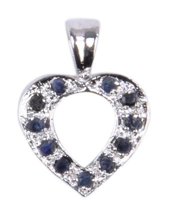 Design 18516: blue sapphire pendants