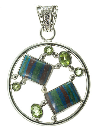 Design 18584: green peridot pendants