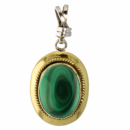 Design 18819: green malachite pendants