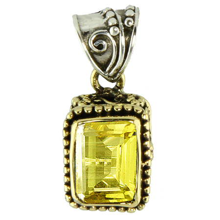 Design 18822: yellow quartz pendants