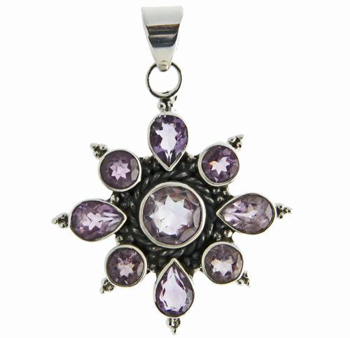 Design 20922: purple amethyst pendants