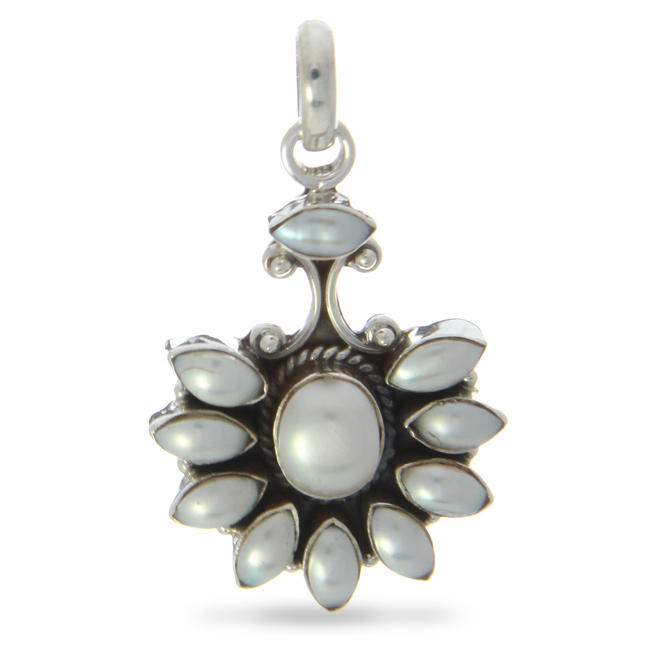 Design 20926: white pearl pendants