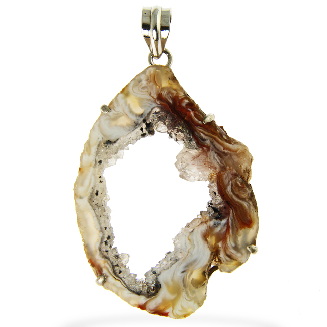 Design 20928: brown agate pendants