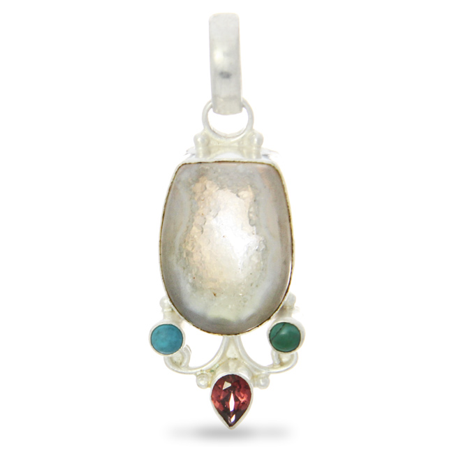 Design 20953: multi-color quartz pendants