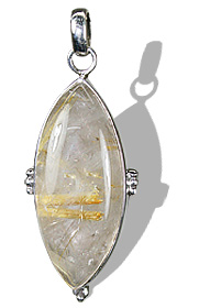 Design 20970: clear quartz pendants