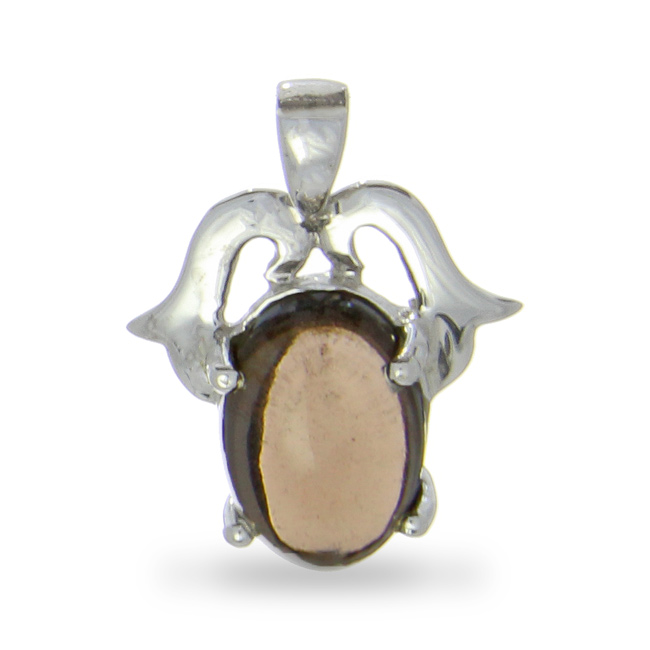 Design 20974: brown smoky quartz pendants