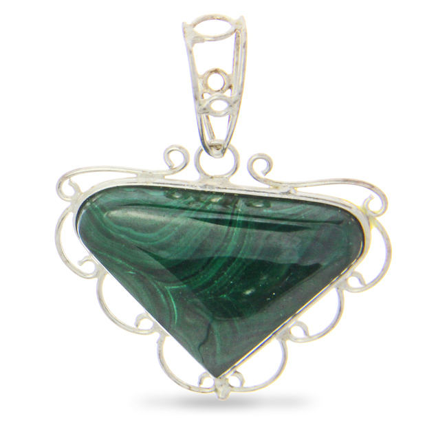 Design 21001: green malachite pendants
