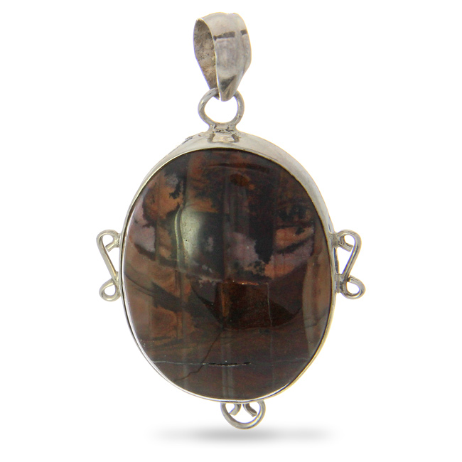Design 21006: brown agate pendants