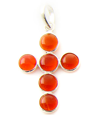 Design 21132: orange carnelian pendants